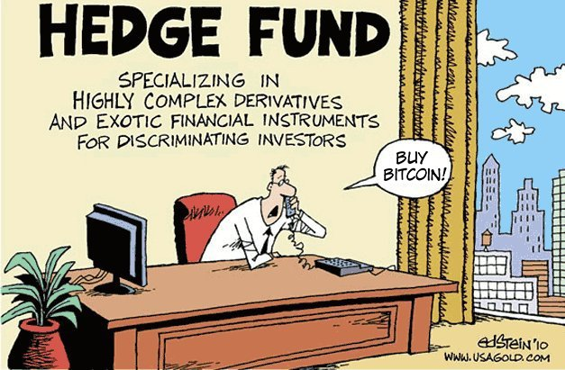 Bitcoin zachraňuje zadky manažérom hedžových fondov