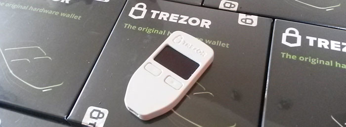 trezor USB bitcoin device