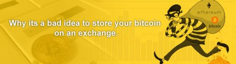 store bitcoin on an exchange