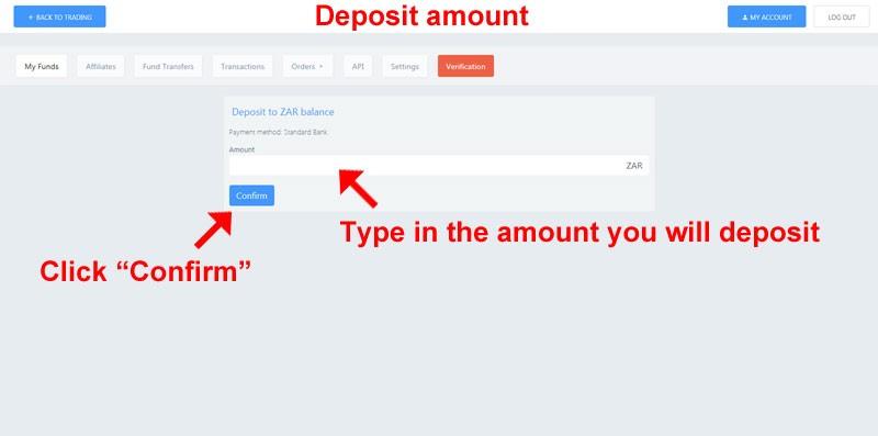 Deposit amount