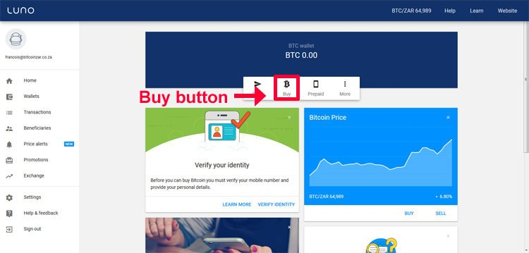 How to use Luno bitcoin exchange to buy bitcoin in South Africa