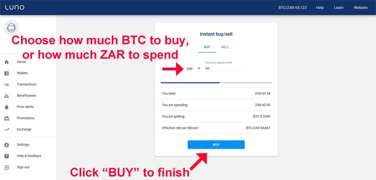 how to buy bitcoin on luno app