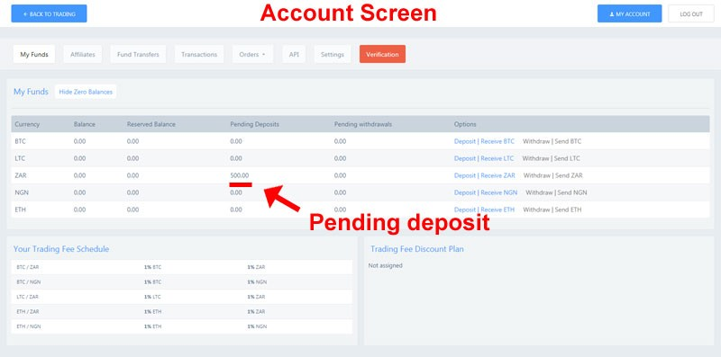 pending deposit