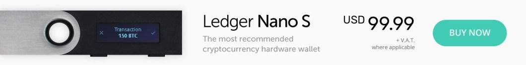 Ledger Nano S hardware wallet