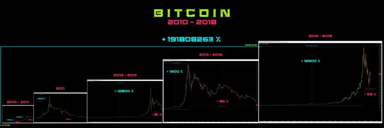 Bitcoin hype cycles