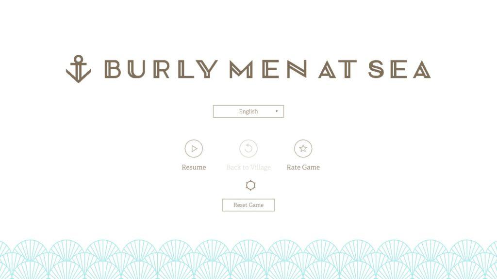 Burly Men at Sea Menu