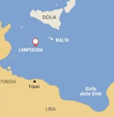 Cartina geografica di Lampedusa