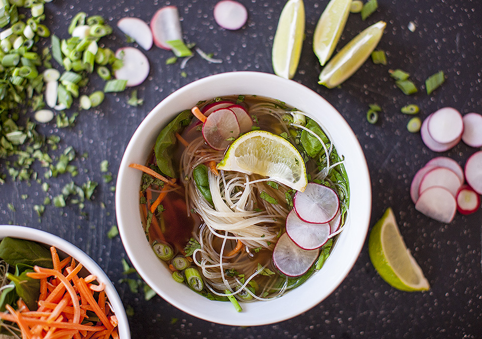 vegetarian pho – Vietnamese noodle soup
