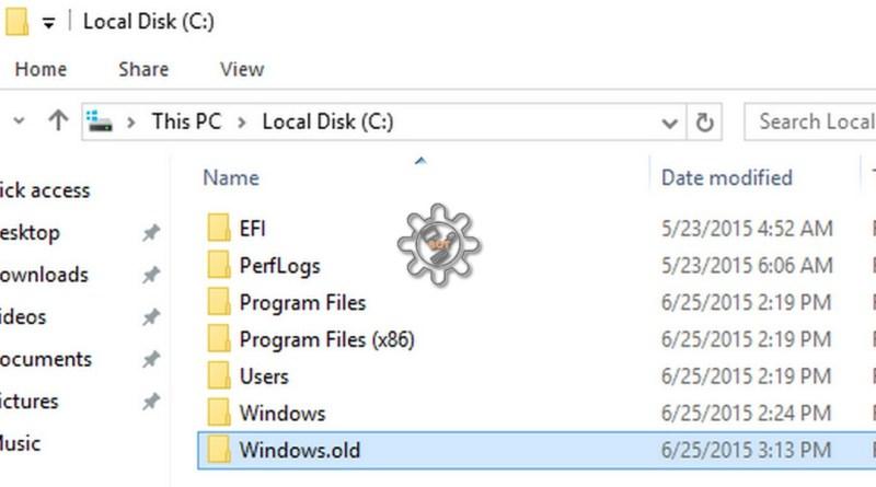 Windows OLD:            Windows OLD come eliminarlo tramite pulizia disco