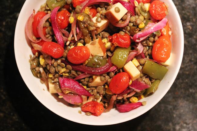 summer lentil salad 3