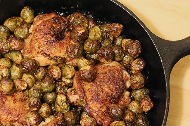 chicken brussels skillet 5
