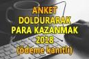 Anket Doldurarak Para Kazanma 2018
