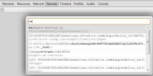 Chrome Intellisense