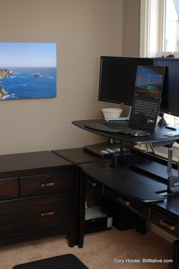 Standing desk setup