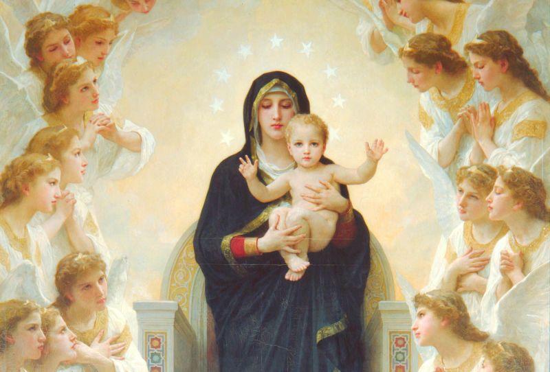 Bouguereau_Djevica Marija s andjelima, Gospa
