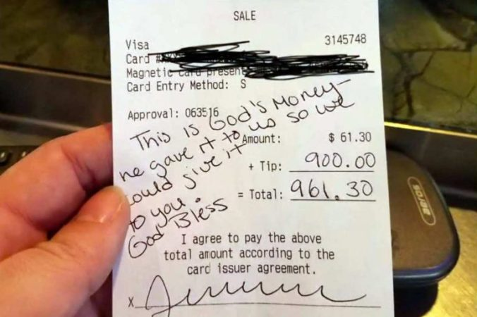 žena trudnoj konobarici ostavila napojnicu napojnica od 6500 kuna napojnica od 900 dolara