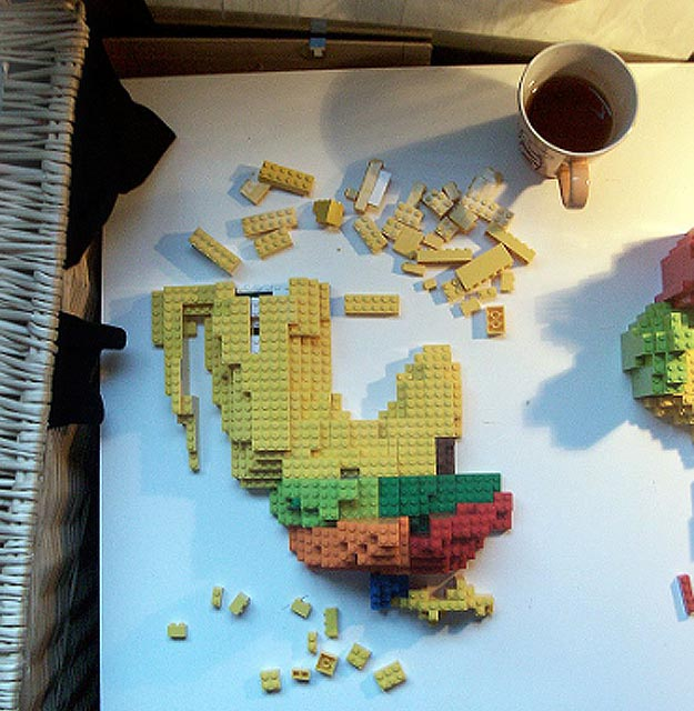 Incredible 3D Infographic Lego Map Build   Bit Rebels Making Maps With Lego