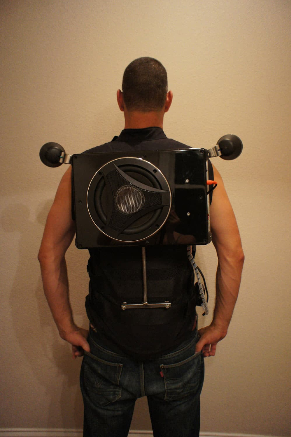 Wearable Boombox Backpack Packs A Divine Punch Bit Rebels