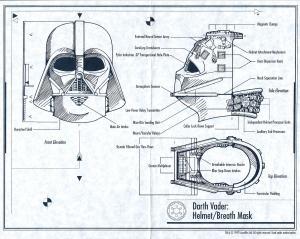 Darth Vader Helmet Blueprints Reveal His Inner Secrets