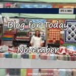 Blog for Today – November