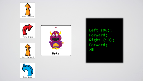 How the instructions issued in Bits and Bytes would look in computer code