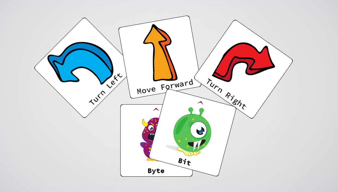 Examples of the cards used in Bits and Bytes