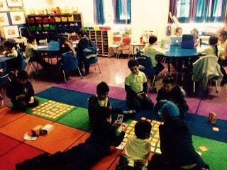2nd graders in New York City learning computational thinking by playing Bits and Bytes