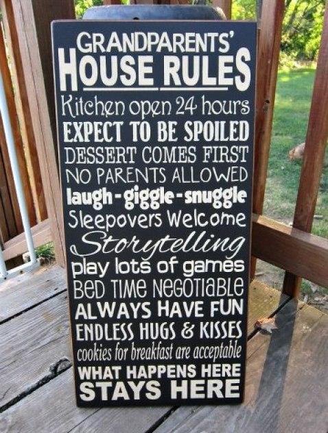 Grandparent's house rules