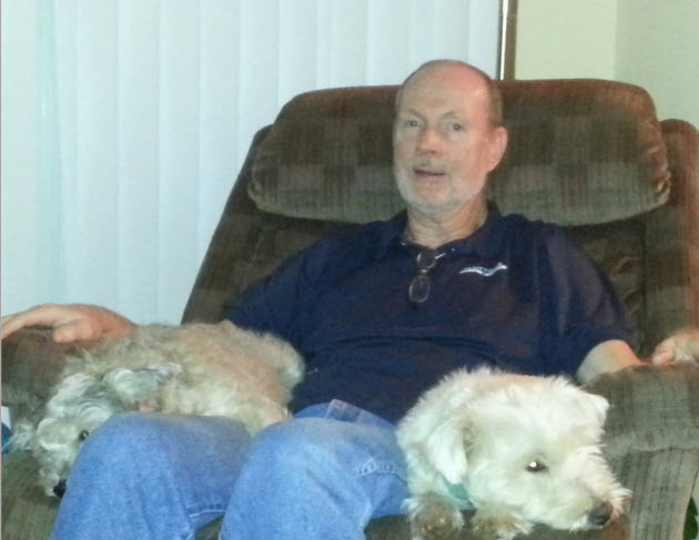 Jon and pups