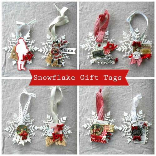 Snowflake Ornament Gift Tags