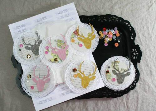 Deer Party Favor Tags