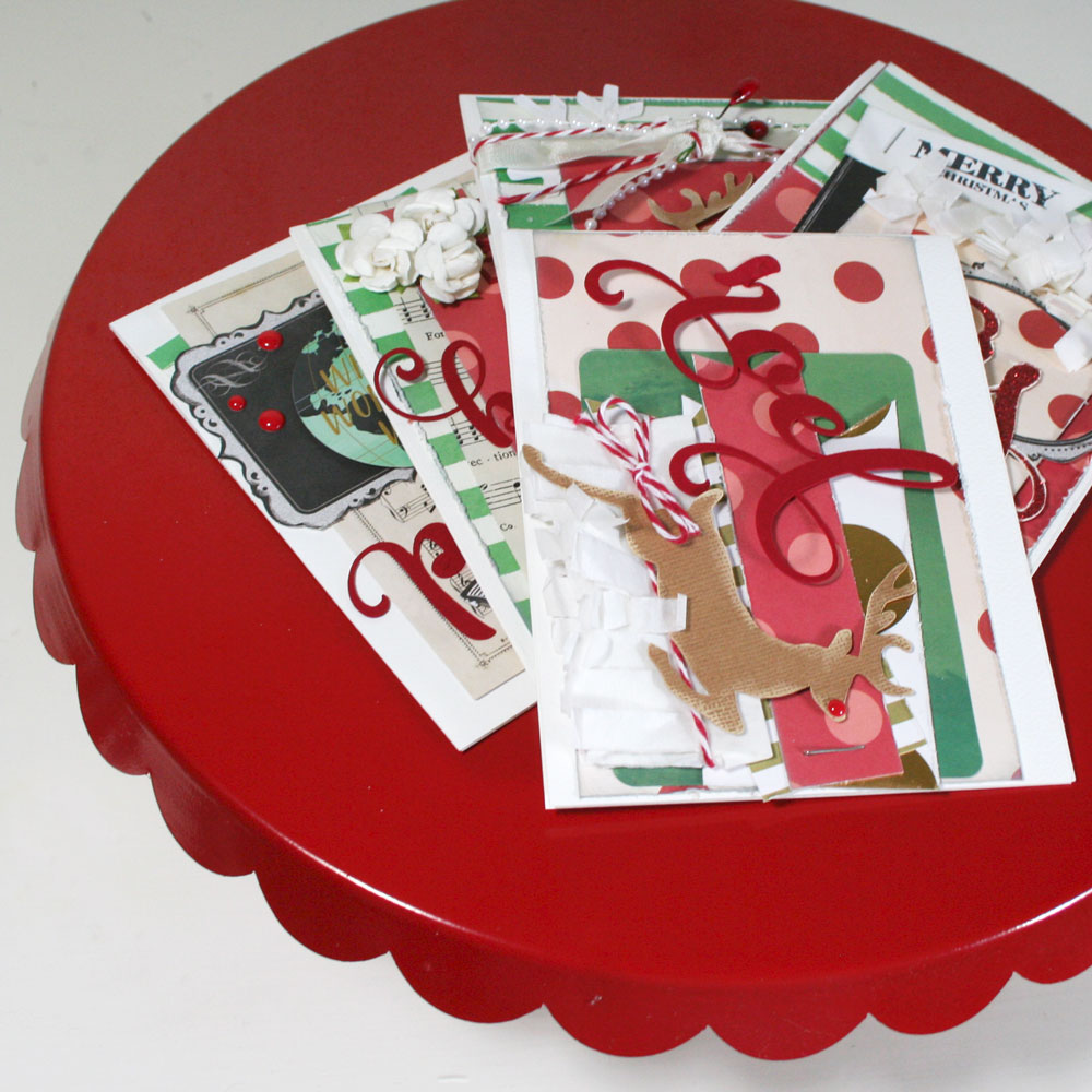 using nonholiday collections to make christmas cards