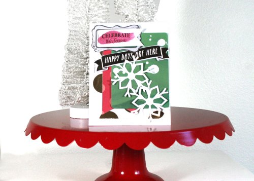 Making Handmade Christmas Cards with die cuts
