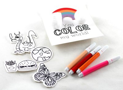 Color your own Valentines
