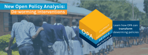 New OPA initiative dealing with deworming interventions