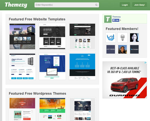 free themes themezy resource