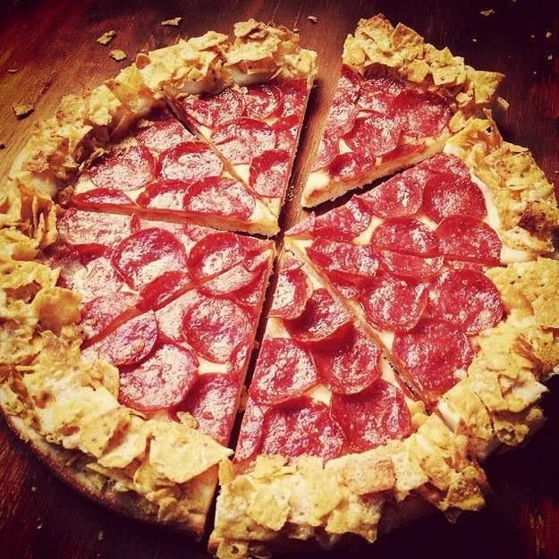dorritos crust pizza