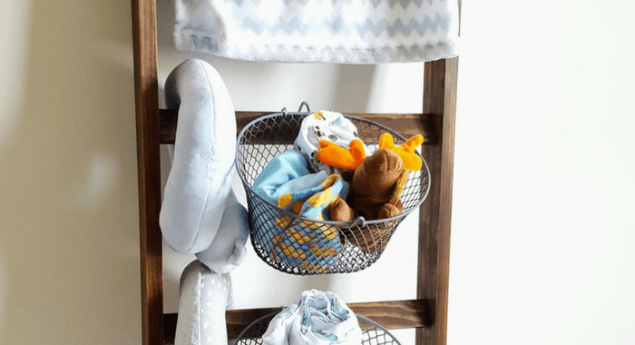 Blanket Ladder Nursery Shelf