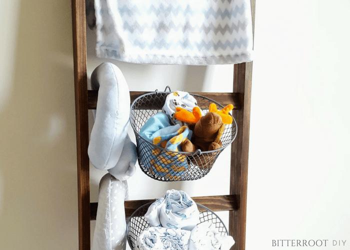 Blanket Ladder Nursery Shelf