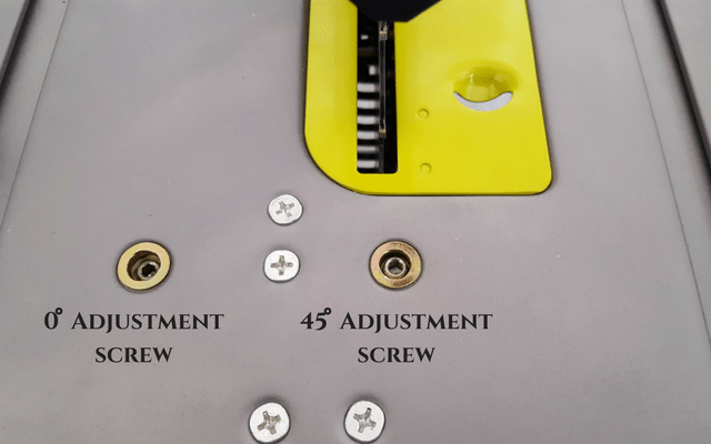 bevel adjusting screws