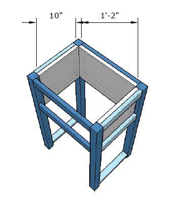 Simple One Drawer DIY Nightstand