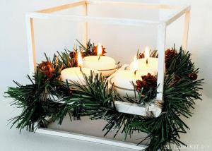 DIY Advent Wreath Cube