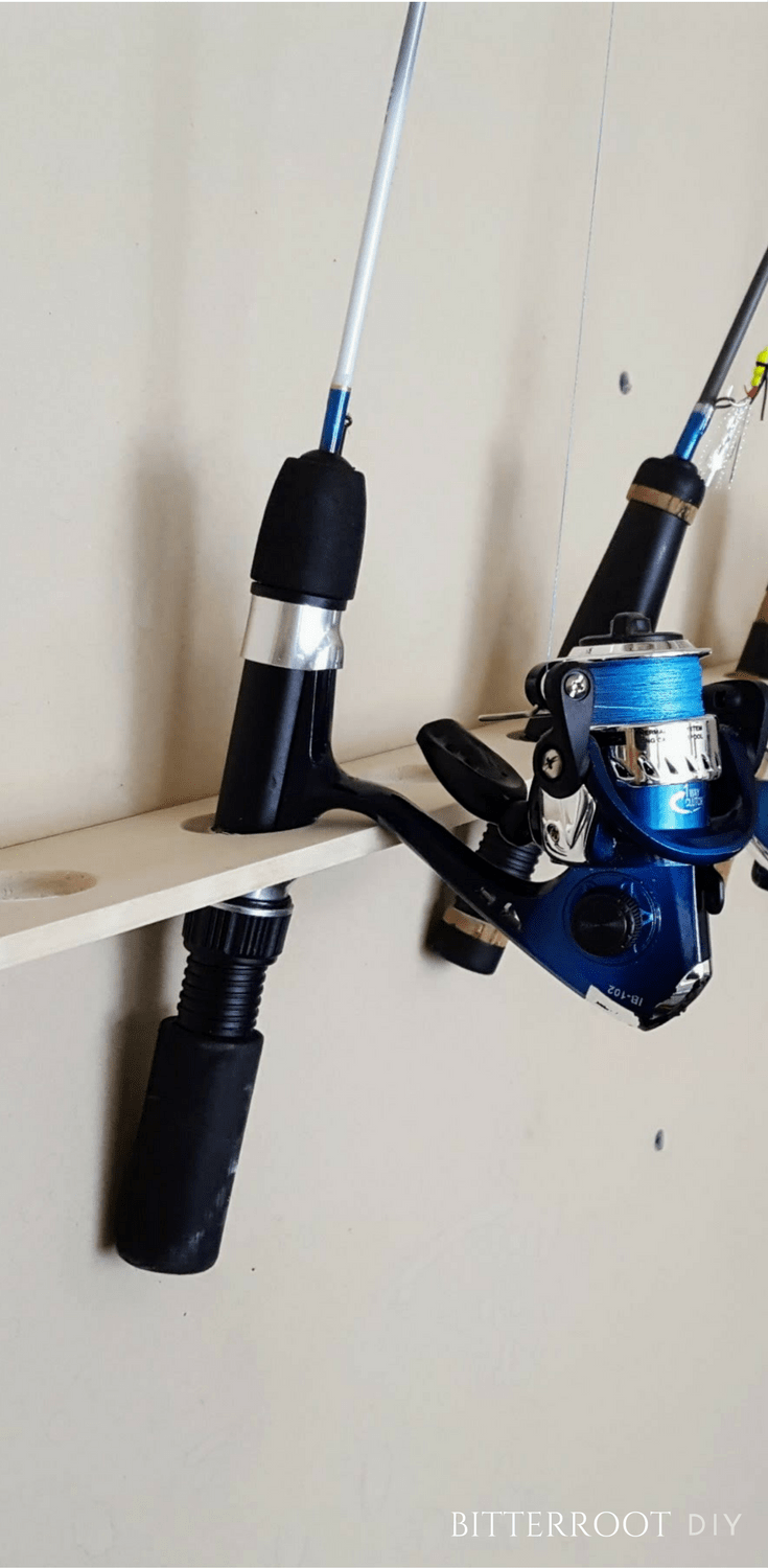 Ice fishing rod rack easiest fishing rod rack in the for Ice fishing rod holder