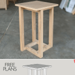 Geometric Diy End Table