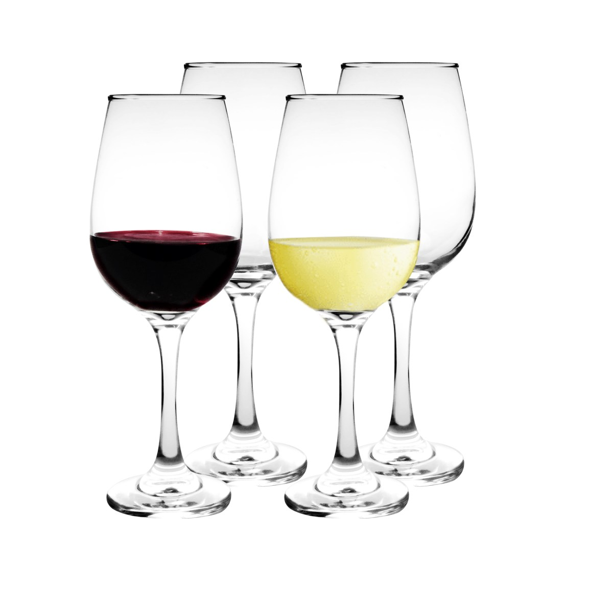 Set Copas Vino Vidrio 415ml (4u)