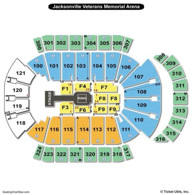 Veterans Memorial Coliseum Seating Chart Template