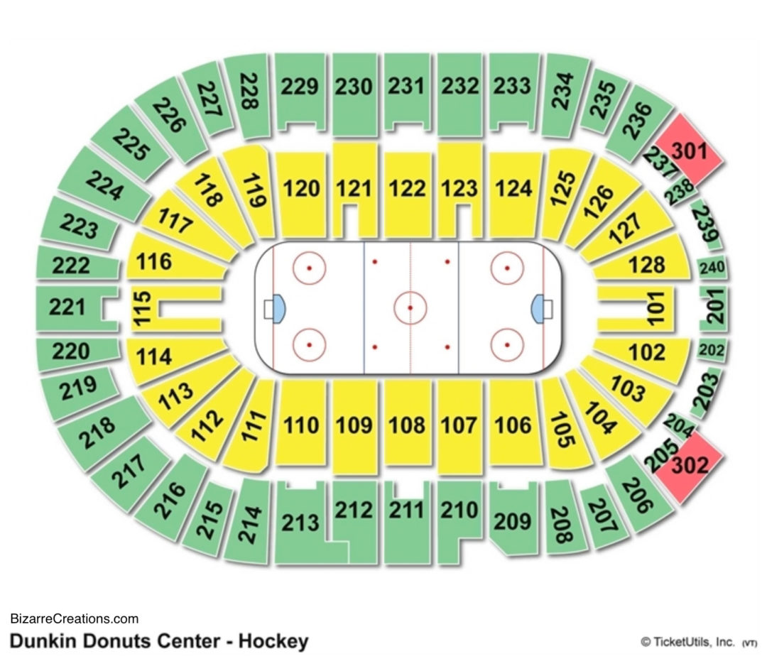 Dunkin Donuts Civic Center Seating Chart