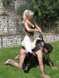 Equestrian Mistress in High Heels Trains, Rides and Disciplines Her Pony