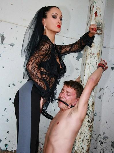 Fetish Liza Trashes and Dominates a humiliated slave