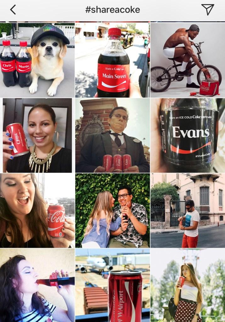 share a coke on instagram